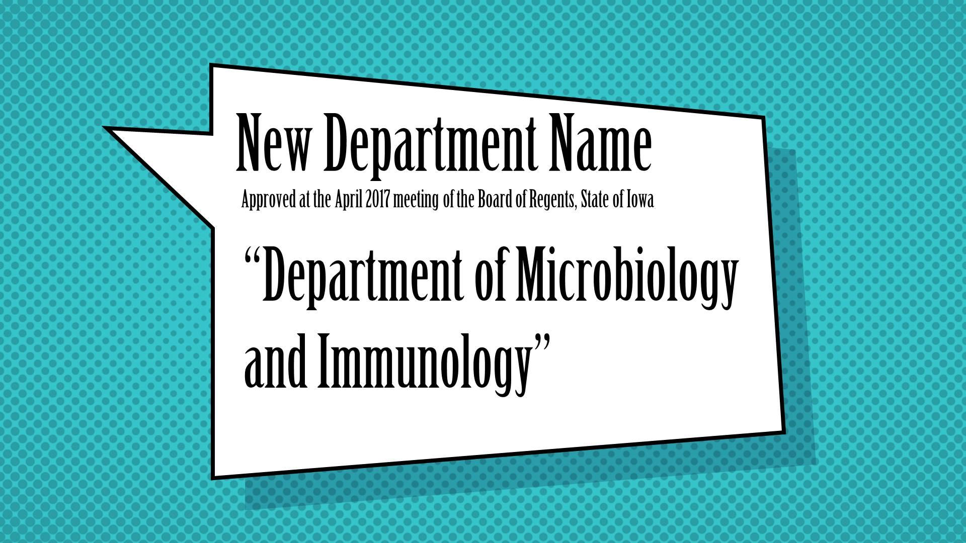 Department Name Change
