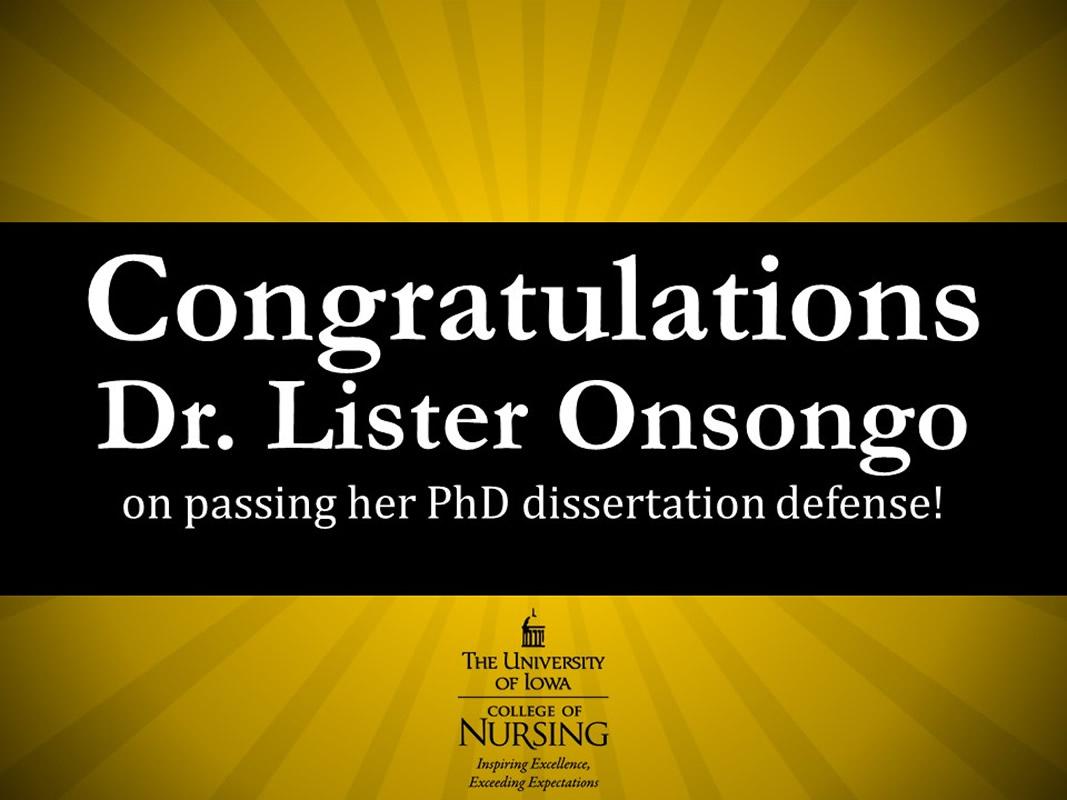 Congratulations Lister