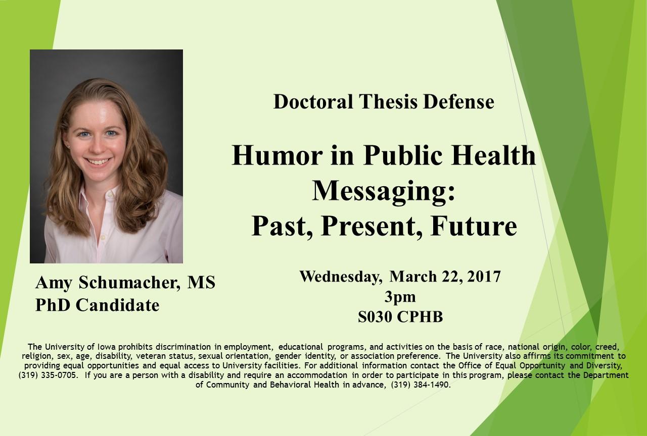 Amy Schumacher Dissertation Defense