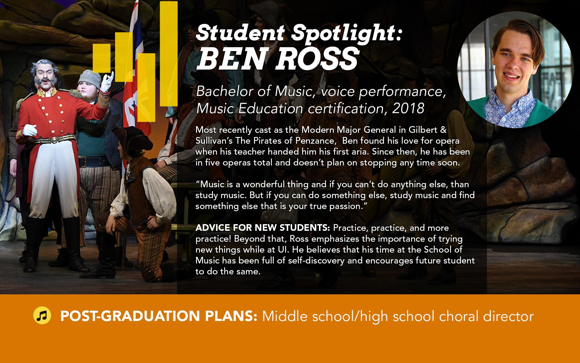 Student Spotlight Ben Ross