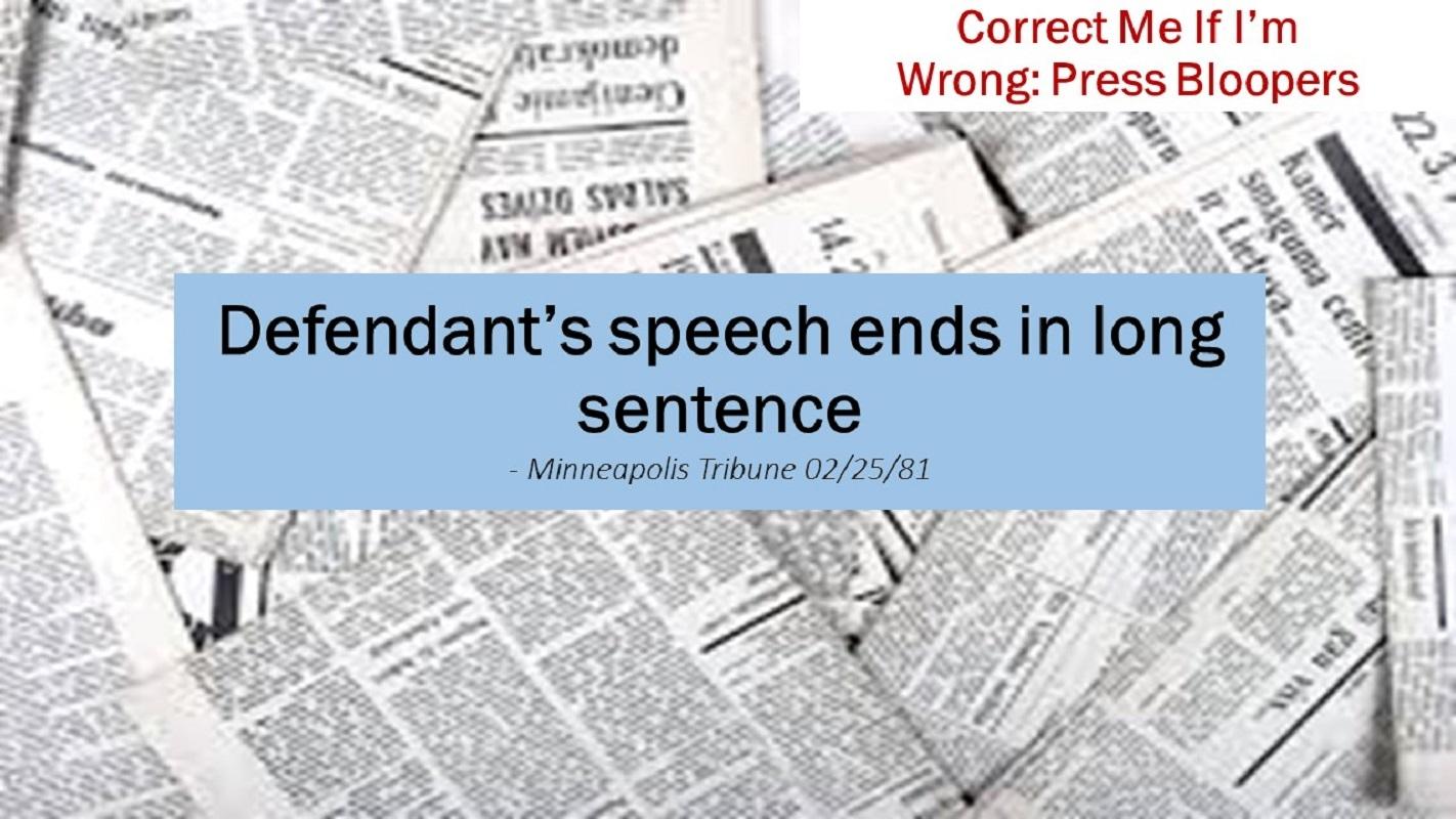 Defendant's Speech