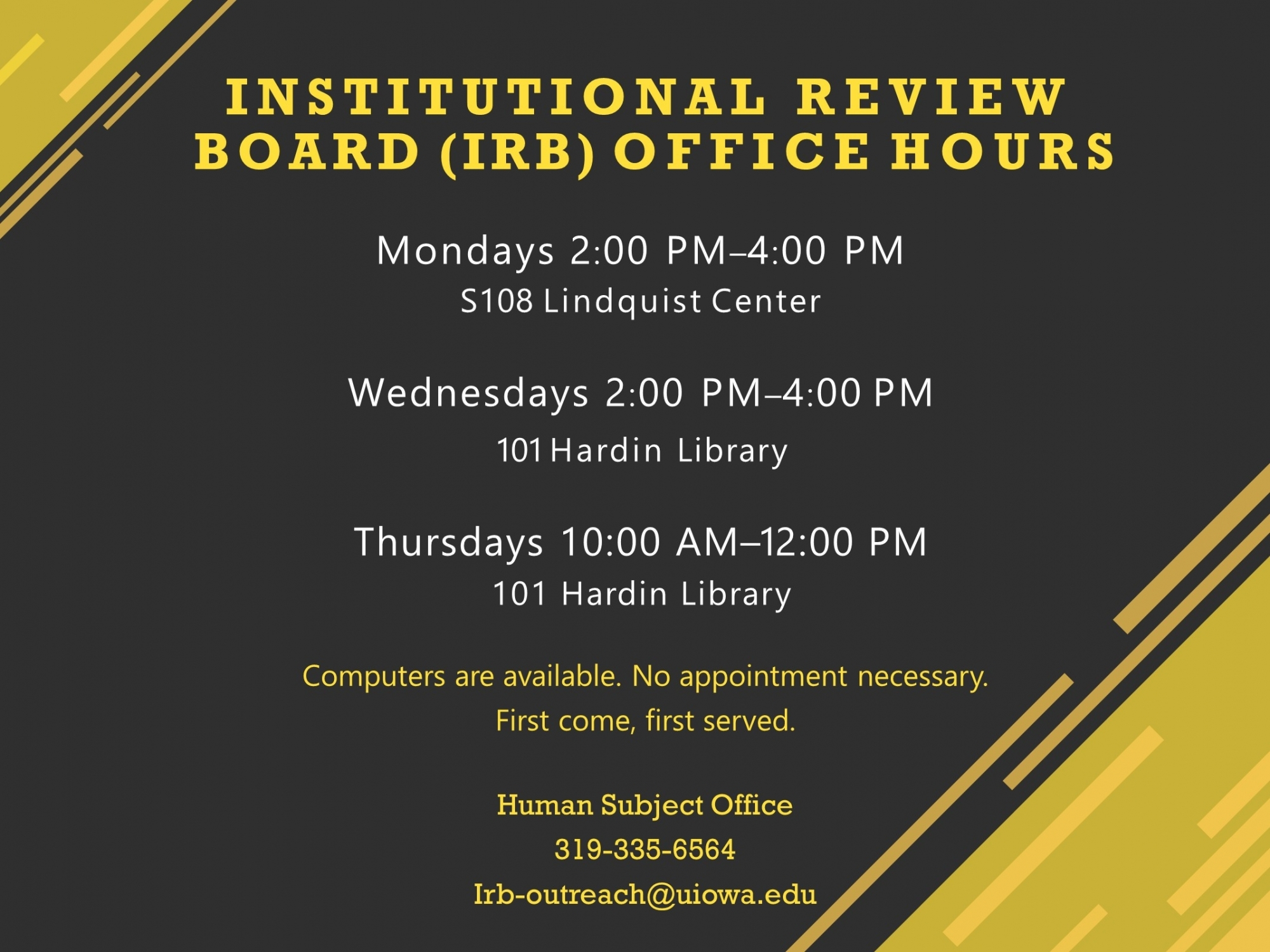 IRB office hours