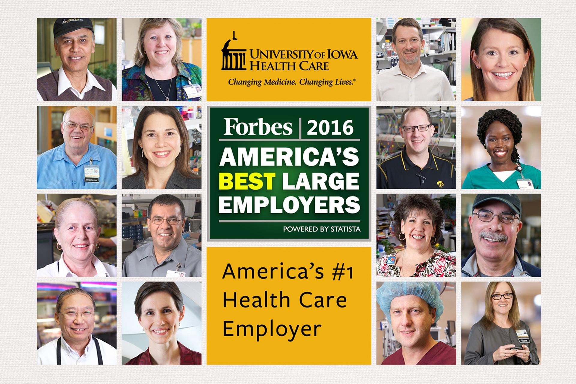 America's #1 Health Care Employer 2016
