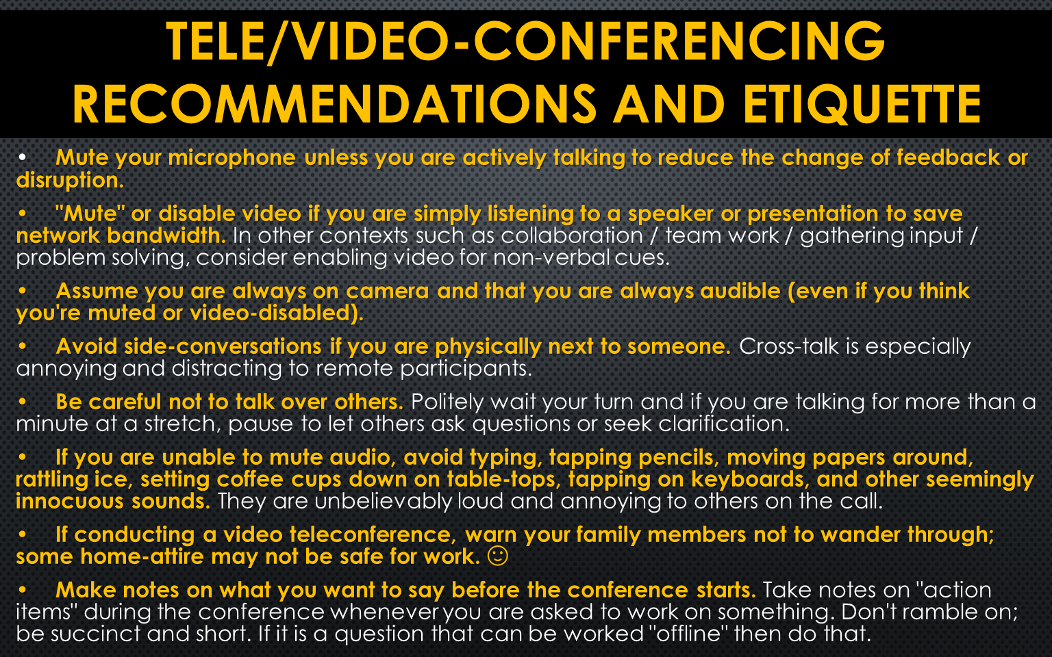 2020March-Tele Conferencing Tips
