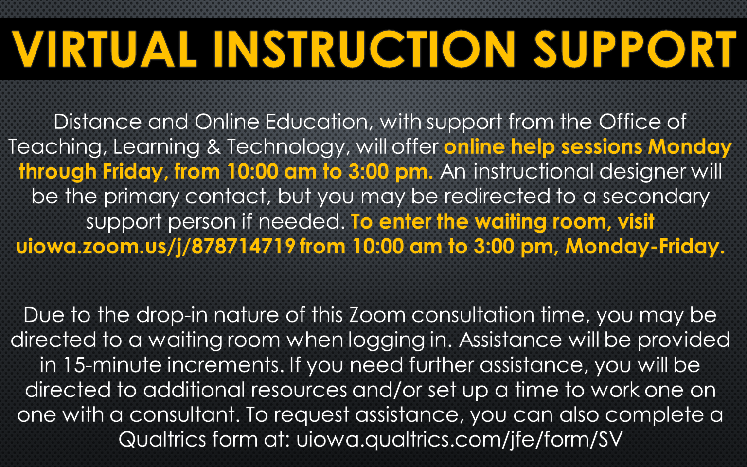 2020March-Virtual Instruction Support