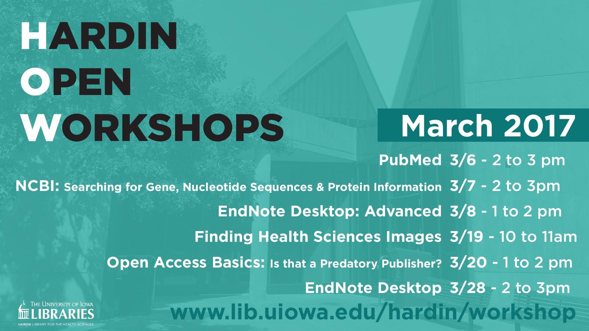 Hardin Workshops