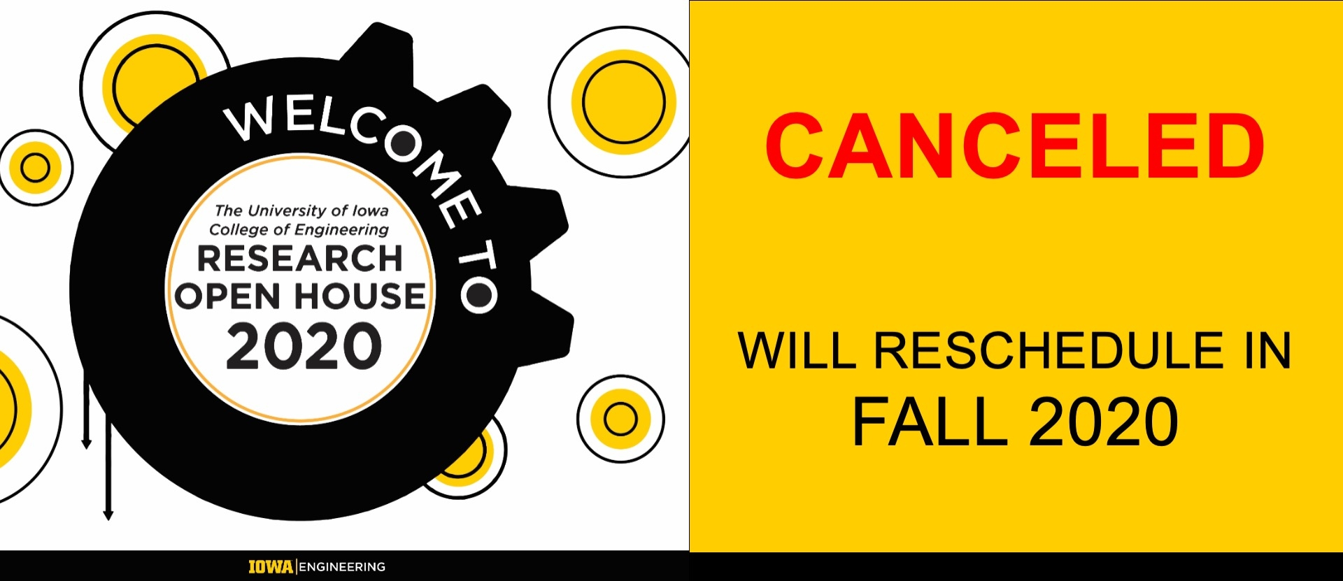 Research Open house canceled