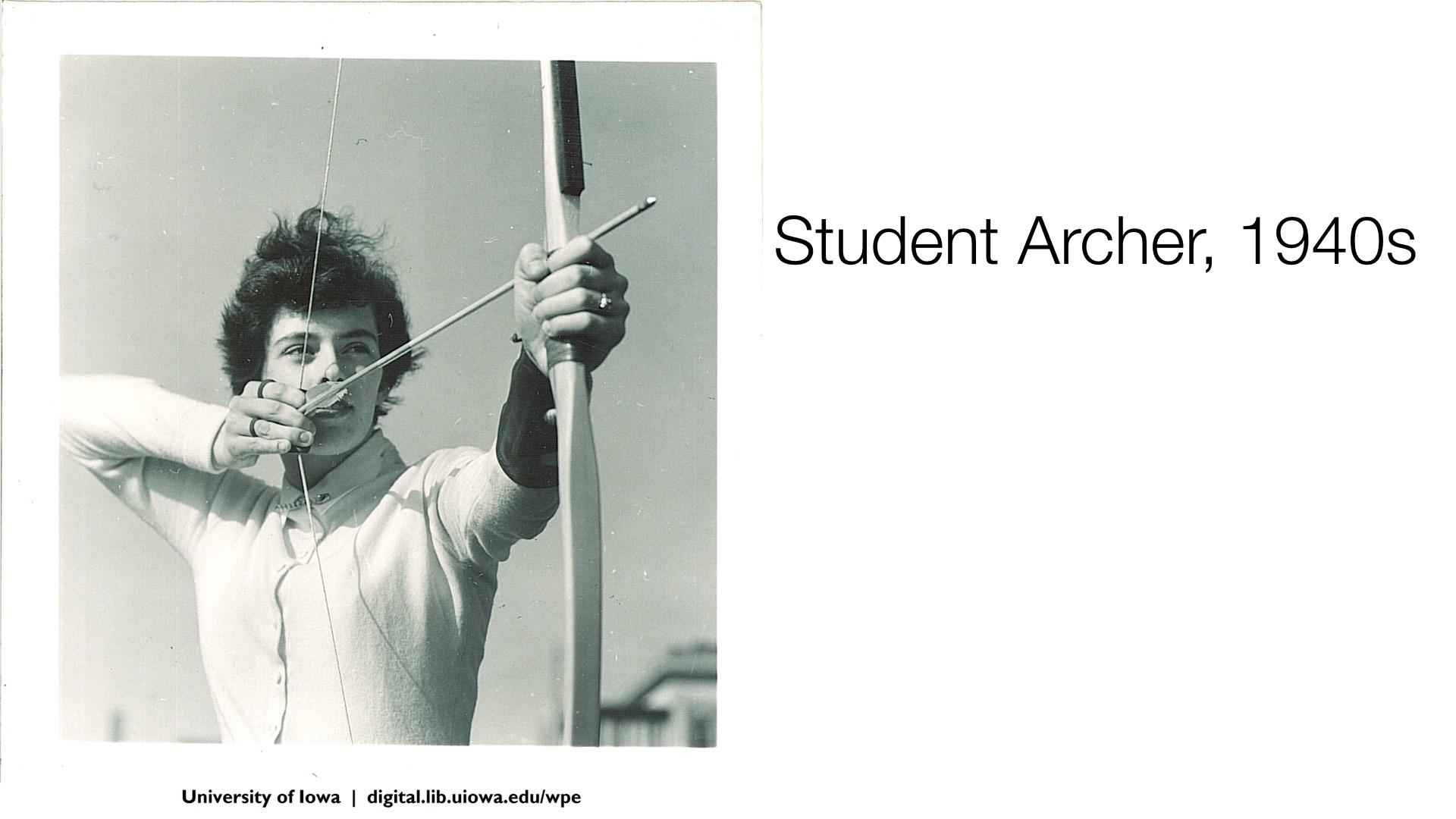 Student Archer, 1940s