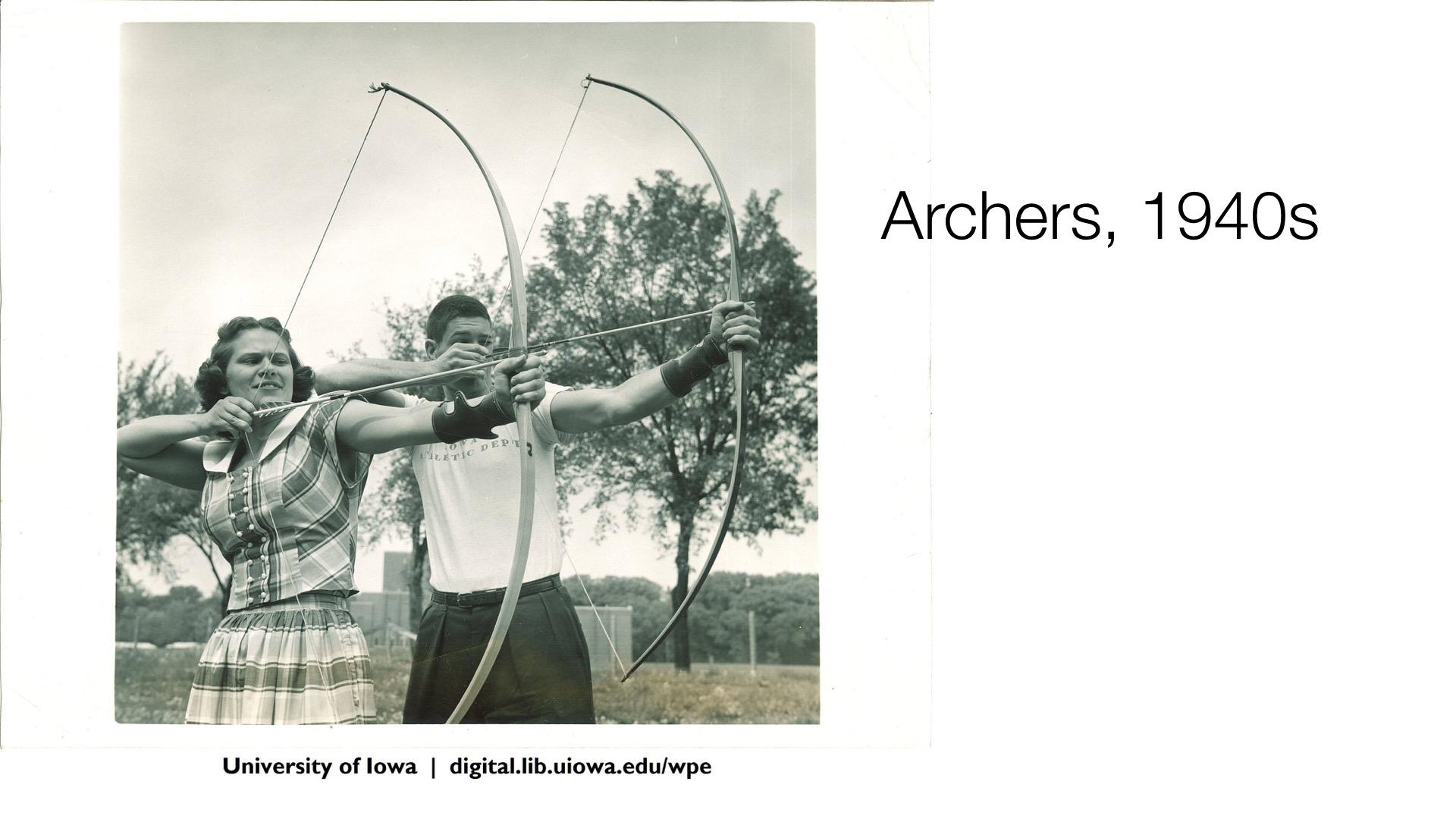 Archers, 1940s