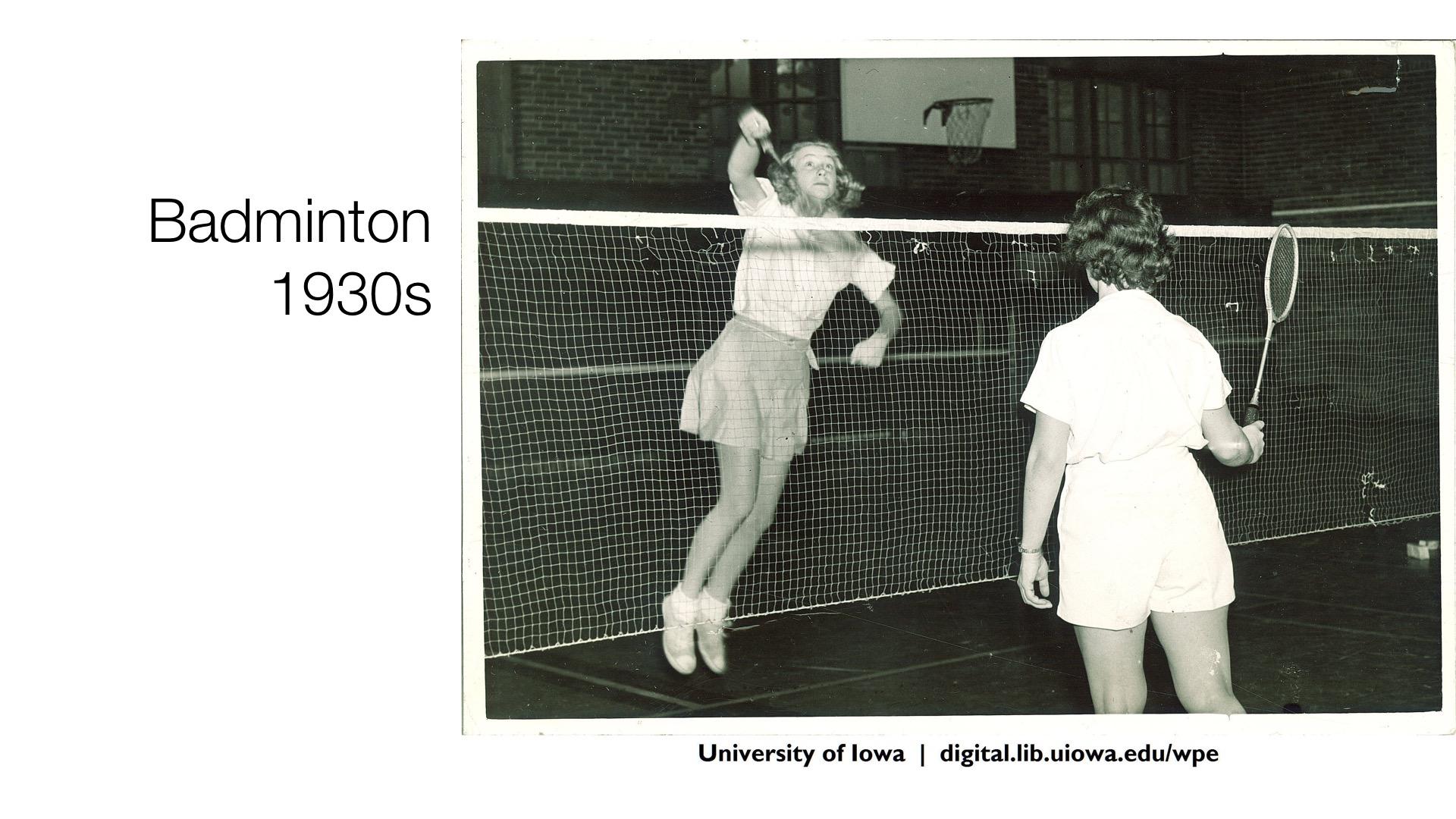 badminton, 1930s