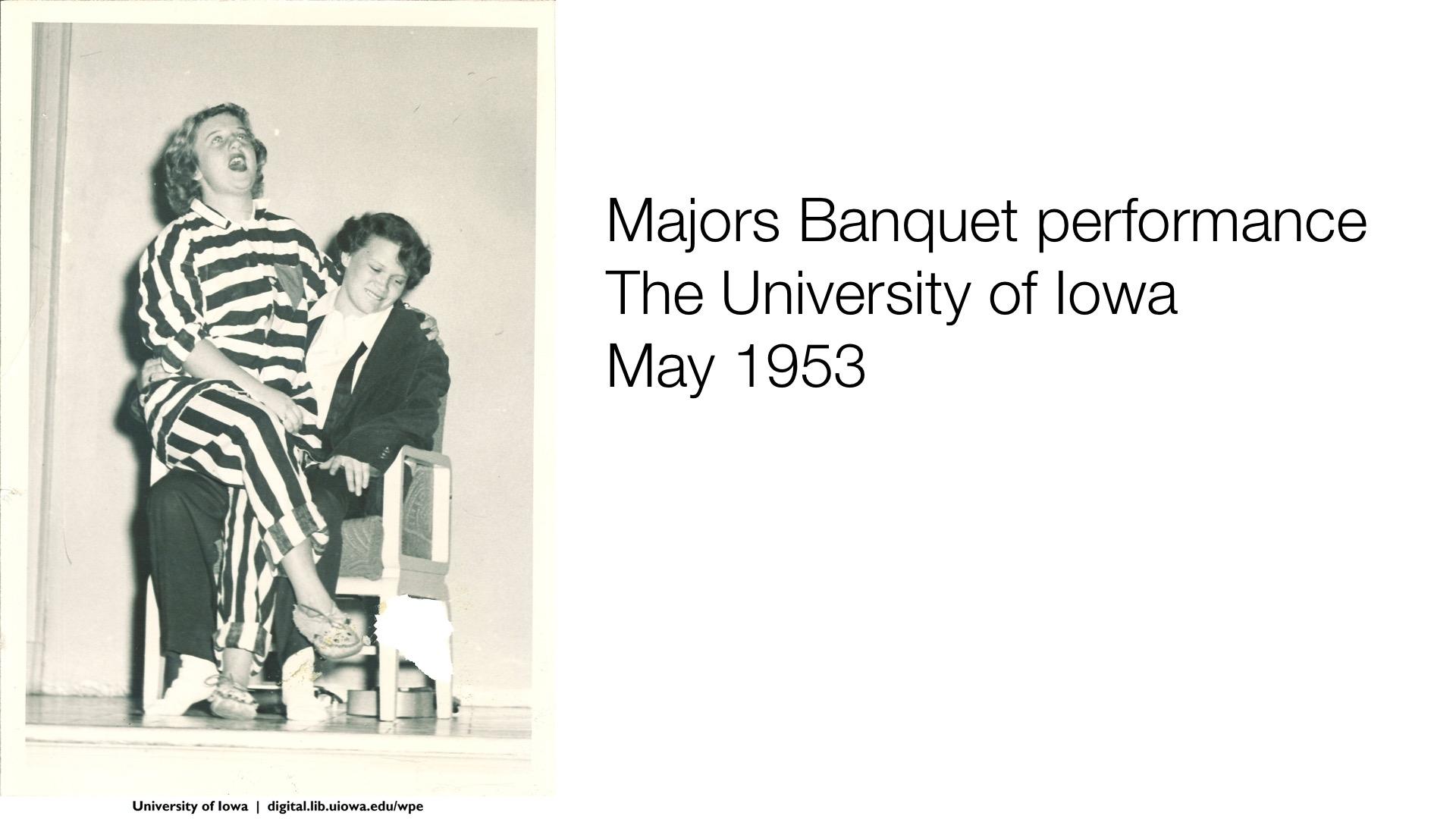 Majors Banquet performance, May 1953