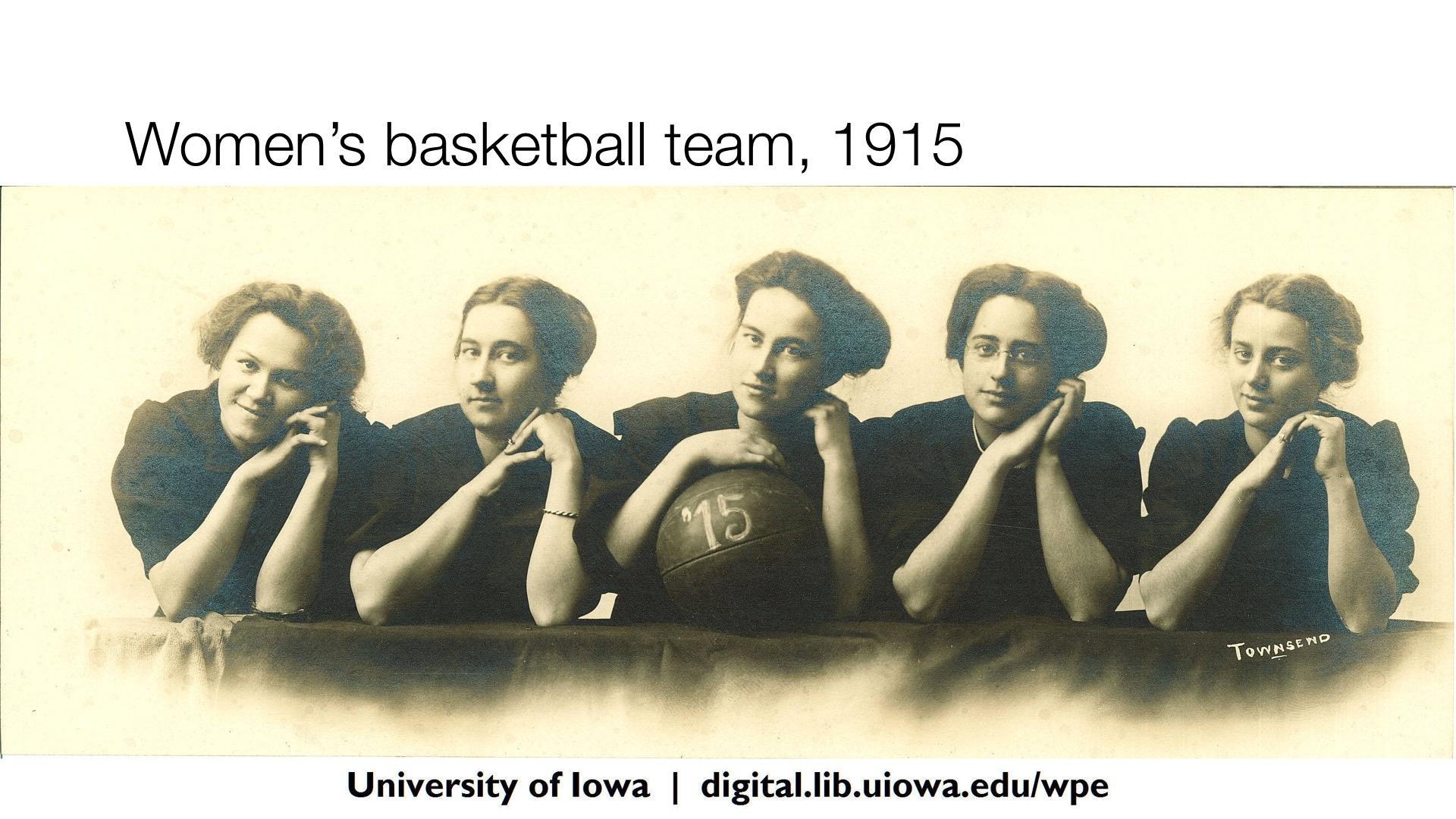 Women's basketball team, 1915