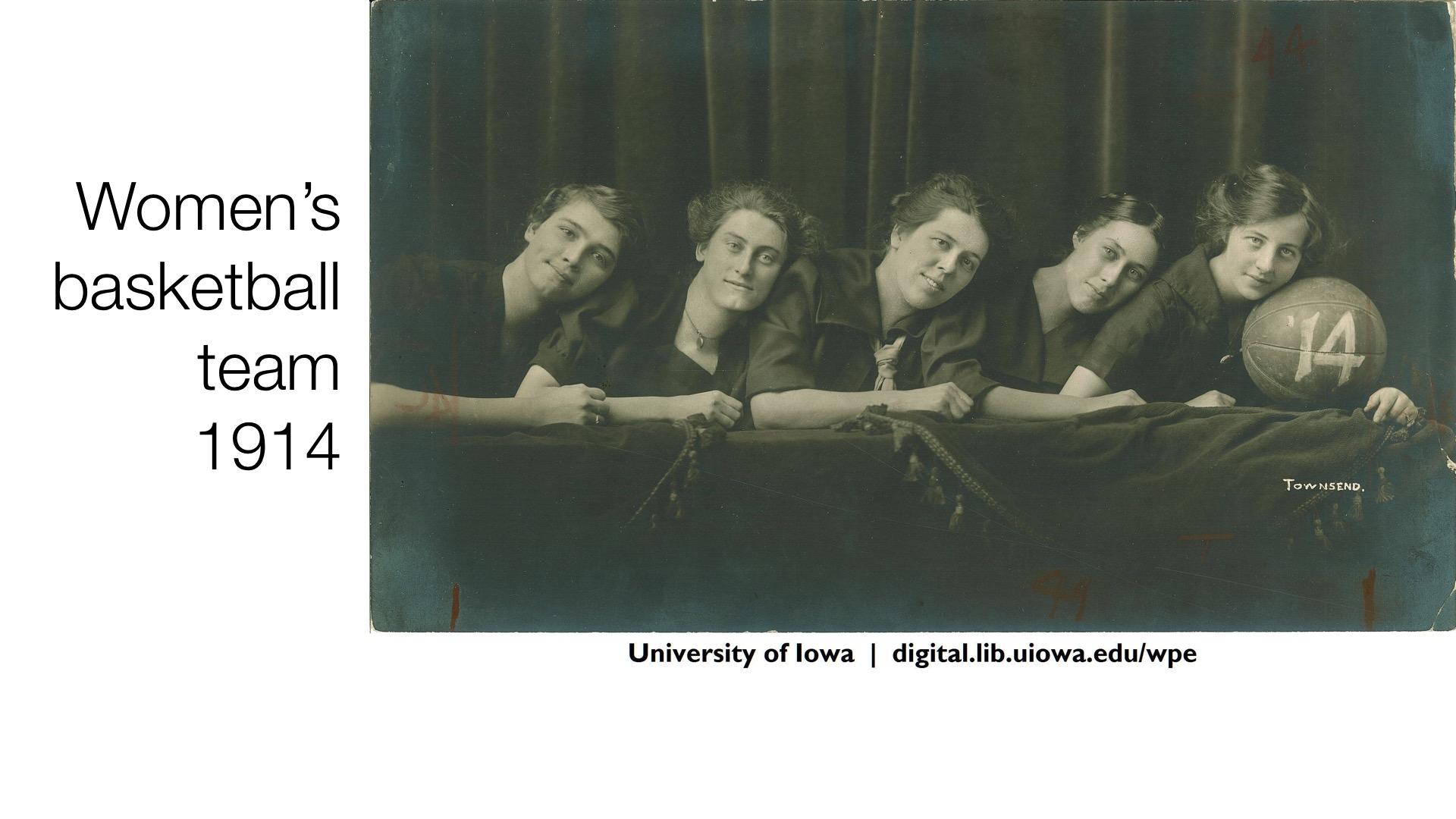 Women's basketball team 1914