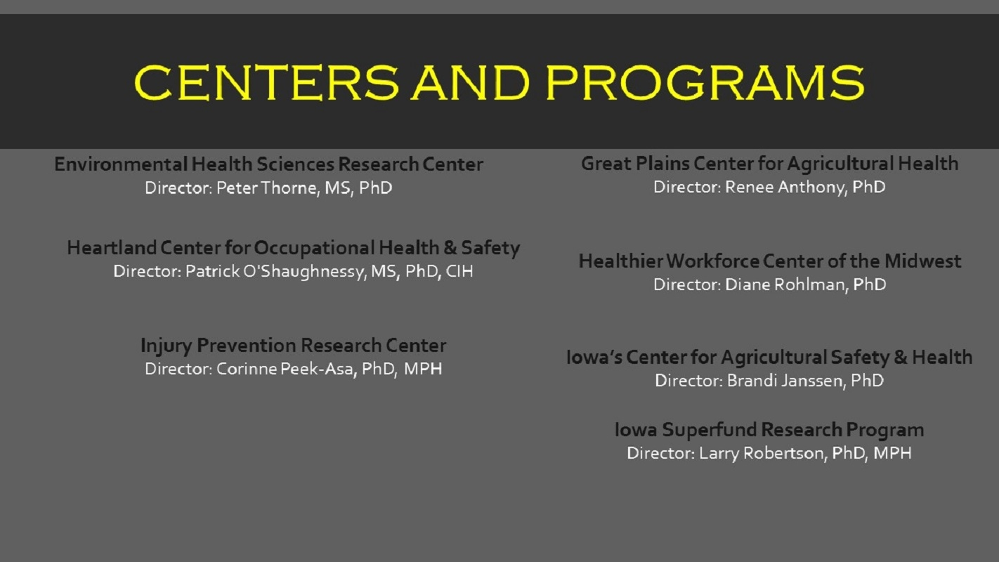 Centers and Programs